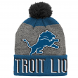 "Detroit Lions Youth NFL ""Ultimate"" Cuffed Knit Hat w/ Pom"