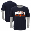 "Chicago Bears Youth NFL ""Bleachers"" L/S Faux Layer Thermal Shirt"