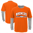 "Denver Broncos Youth NFL ""Bleachers"" L/S Faux Layer Thermal Shirt"