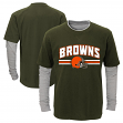 "Cleveland Browns Youth NFL ""Bleachers"" L/S Faux Layer Thermal Shirt"