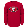 "San Francisco 49ers Youth NFL ""Prime"" Pullover Crew Sweatshirt"