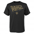 """New Orleans Saints Youth NFL """"Dimensional"""" Short Sleeve T-Shirt"""