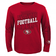 """San Francisco 49ers Youth NFL """"Frequency"""" Long Sleeve T-Shirt"""