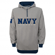 "Navy Mipshipmen NCAA ""Fashion"" Men's 1/4 Zip Hooded Sweatshirt"