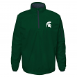"Michigan State Spartans NCAA ""Apex"" Men's 1/4 Zip Pullover Performance Jacket"