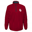 "Oklahoma Sooners NCAA ""Apex"" Men's 1/4 Zip Pullover Performance Jacket"