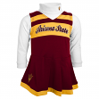 Arizona State Sun Devils NCAA Toddler Girls Cheer Jumper Dress Set w/ Turtleneck