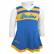UCLA Bruins NCAA Toddler Girls Cheer Jumper Dress Set w/ Turtleneck