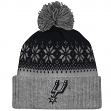 "San Antonio Spurs Mitchell & Ness NBA ""Snowflake"" Current Logo Cuffed Knit Hat"