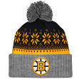 "Boston Bruins Mitchell & Ness NHL ""Snowflake"" Retro Cuffed Knit Hat"