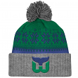 "Hartford Whalers Mitchell & Ness NHL ""Snowflake"" Retro Cuffed Knit Hat"