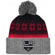 """Los Angeles Kings Mitchell & Ness NHL """"Snowflake"""" Current Logo Cuffed Knit Hat"""