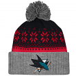 "San Jose Sharks Mitchell & Ness NHL ""Snowflake"" Current Logo Cuffed Knit Hat"