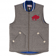 "Buffalo Bills Mitchell & Ness NFL ""Victory"" Premium Throwback Vest Men's Jacket"