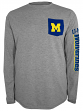 "Michigan Wolverines NCAA Champion ""Extra Point"" Men's L/S Pocket T-Shirt"