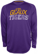 "LSU Tigers NCAA Champion ""Be a Beast"" Long Sleeve Performance Shirt"