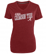 "Alabama Crimson Tide Women's NCAA Champion ""Achieve"" Dual Blend V-neck T-Shirt"