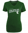 Michigan State Spartans Women's NCAA Champion Achieve Dual Blend V-neck T-Shirt