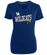 "Kentucky Wildcats Women's NCAA Champion ""Achieve"" Dual Blend V-neck T-Shirt"