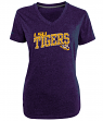 "LSU Tigers Women's NCAA Champion ""Achieve"" Dual Blend V-neck T-Shirt"