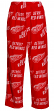 "Detroit Red Wings NHL ""Playoff"" Men's Micro Fleece Pajama Pants"