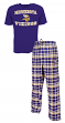 "Minnesota Vikings NFL ""Tiebreaker"" Men's T-shirt & Flannel Pajama Sleep Set"