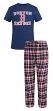 "Boston Red Sox MLB ""Tiebreaker"" Men's T-shirt & Flannel Pajama Sleep Set"