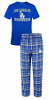 "Los Angeles Dodgers MLB ""Tiebreaker"" Men's T-shirt & Flannel Pajama Sleep Set"