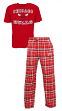 "Chicago Bulls NBA ""Tiebreaker"" Men's T-shirt & Flannel Pajama Sleep Set"