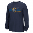 "Los Angeles Galaxy Adidas MLS ""Overlaid"" Men's Long Sleeve T-Shirt"