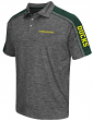 "Oregon Ducks NCAA Men's ""Birdie"" Short Sleeve Polo Shirt - Charcoal"