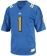 UCLA Bruins Adidas NCAA Men's Football #1 Replica Blue Jersey