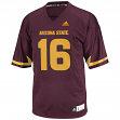 Arizona State Sun Devils Adidas NCAA Men's Football #16 Replica Maroon Jersey