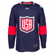 Team USA 2016 World Cup of Hockey Adidas Men's Premier Blue Jersey