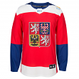 Team Czech Republic 2016 World Cup of Hockey Adidas Men's Premier Red Jersey