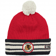"Chicago Blackhawks CCM NHL ""Watch"" Cuffed Knit Hat with Pom"