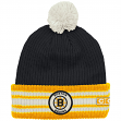 "Boston Bruins CCM NHL ""Watch"" Cuffed Knit Hat with Pom"