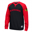 "Chicago Blackhawks Reebok NHL ""Offsides"" Long Sleeve Raglan Crew Shirt"