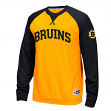 "Boston Bruins Reebok NHL ""Offsides"" Long Sleeve Raglan Crew Shirt"