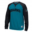 "San Jose Sharks Reebok NHL ""Offsides"" Long Sleeve Raglan Crew Shirt"