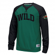 "Minnesota Wild Reebok NHL ""Offsides"" Long Sleeve Raglan Crew Shirt"