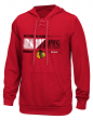 "Chicago Blackhawks Reebok NHL Men's ""Freeze Stripe"" Pullover Hooded Sweatshirt"