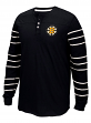 "Boston Bruins CCM NHL ""Stripes"" Men's Long Sleeve Henley Shirt"