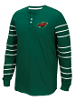 "Minnesota Wild CCM NHL ""Stripes"" Men's Long Sleeve Henley Shirt"