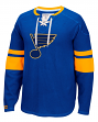 "St. Louis Blues CCM NHL ""Drop the Puck"" Men's Jersey Crew Sweatshirt"