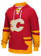 "Calgary Flames CCM NHL ""Hit the Boards"" Men's Vintage Jersey Sweatshirt"