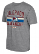 "Colorado Avalanche CCM NHL ""Classic Stripe"" Tri-Blend Men's Short Sleeve T-Shirt"