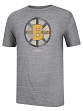 "Boston Bruins CCM ""Retro Logo"" Distressed Premium Tri-Blend Gray T-Shirt"