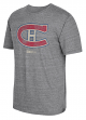 "Montreal Canadiens CCM ""Retro Logo"" Distressed Premium Tri-Blend Gray T-Shirt"