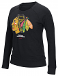 Chicago Blackhawks Women's NHL Reebok French Terry Pullover Crew Sweatshirt